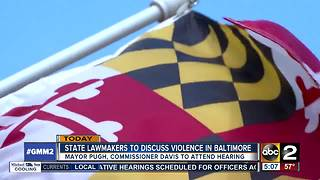 Lawmakers, public meeting to focus on crime solutions in Baltimore - Video