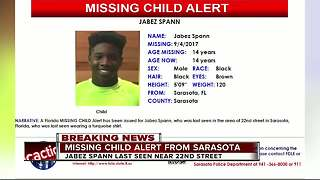Missing Child Alert issued for 14-year-old Sarasota boy - Video