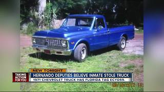 Escaped inmate may have stolen truck - Video