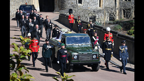 Prince Philip has been laid to rest at a moving ceremony in Windsor