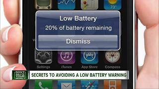 Secrets to avoiding a low battery warning on your phone - Video