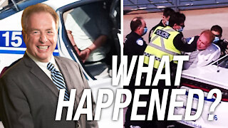 David Menzies reacts to his arrest by Montreal police