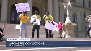 Rally to stop wrongful convictions held in Lansing