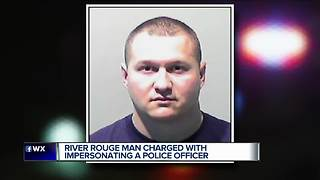 Wayne Co. man in fake cop controversy charged with impersonating police officer - Video