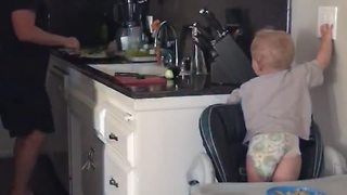 Baby Boy Turns Off Light Switch - Video