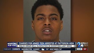 Charges for armed teen arrested at Patterson High