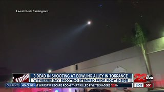 Three people dead in shooting at bowling alley in Torrance