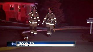 Chimney fire in Franklin - Video