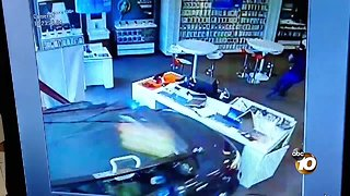 Caught on camera: Car crashes into Escondido store