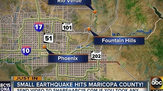 USGS: 2.8 magnitude earthquake NE of the Valley - Video