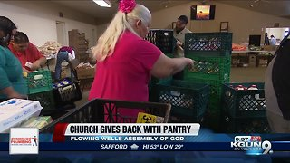Flowing Wells Assembly of God gives back to community