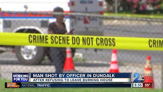 Man shot by officer after refusing to leave Dundalk house fire - Video