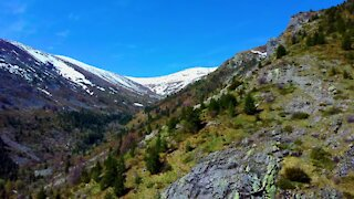 Stunning drone footage of Pelister National Park in Macedonia