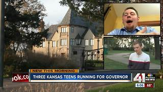 Three teens are running for governor of Kansas, and it's completely legal - Video