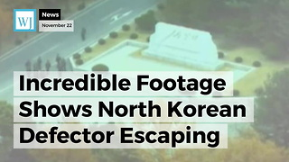 Incredible Footage Shows North Korean Defector Escaping Into South Korea While Being Chased By NK Police