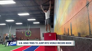 U.B. grad reaches for jumping record