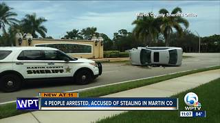 4 suspects arrested in Martin County after $800 in fishing equipment stolen - Video