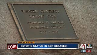 Historic John Brown statue in KCK vandalized - Video