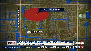 Guns stolen during car burglaries in Cape Coral - Video