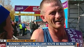 Winner of Route 66 Marathon crosses finish line - Video