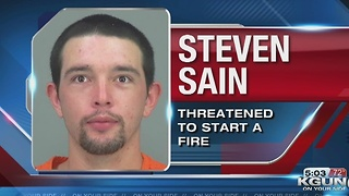 PCSO arrests Steven Sain for threatening to light fuel pumps on fire at a San Tan Circle K - Video