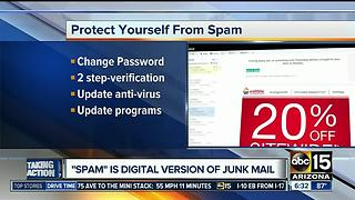 How to protect yourself from spam online - Video