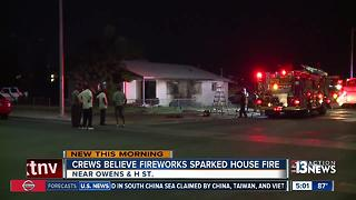 Fireworks possibly to blame for North Las Vegas house fire - Video