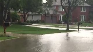 Heavy Rain Triggers Flash Flooding in Chicago Suburbs - Video