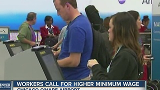 Workers to strike at O'Hare airport - Video