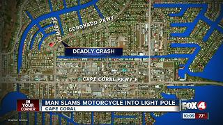 Motorcyclist Killed in Single Vehicle Crash