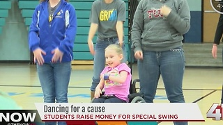 Students dancing for a cause