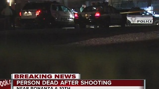 Man shot near Bonanza and 10th Street - Video