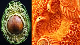 This Chef Creates Real Works Of Art Out Of Fruits And Vegetables  - Video