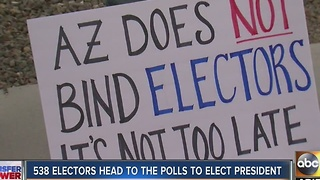 Arizona electors expected to vote for Donald Trump Monday despite protests - Video