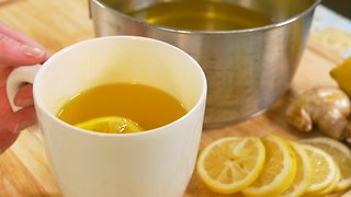 How to make lemon ginger tea - Video