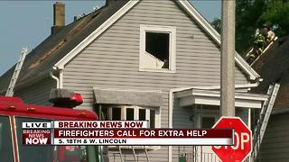 Firefighters called for extra help - Video