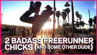 Watch these two amazing ladies show some freerunning skills