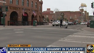 Flagstaff small businesses decide how to adjust after minimum wage hike - Video