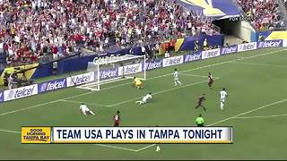 Tampa hosts USA Gold Cup soccer game Wednesday - Video