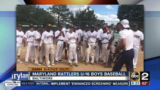 Good morning from the Maryland Rattlers U-16 boys baseball team - Video