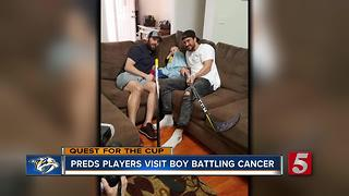 Preds Players Visit Boy Battling Cancer - Video