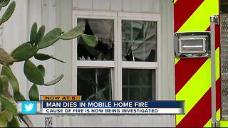 Man dies in mobile home fire - Video