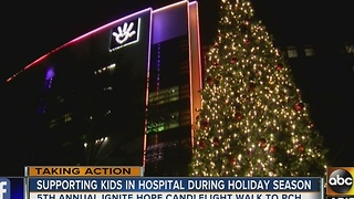 Annual candlelight walk aims to brighten kids spirts at PCH - Video