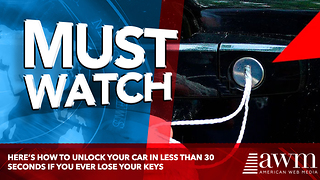Here's How To Unlock Your Car In Less Than 30 Seconds If You Ever Lose Your Keys - Video