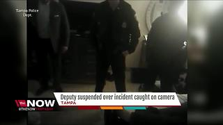 Deputy suspended over incident caught on camera