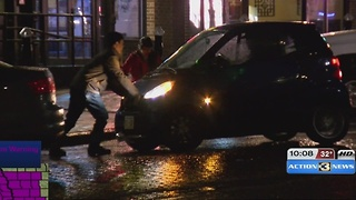 Ice Storm Hits Old Market - Video