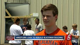 Blackman Wrestlers Fundraise To Rebuild Facility Destroyed By Fire - Video