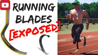 Double amputee explains cheetah running blades - Video