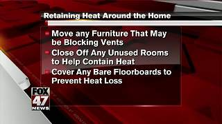 Tips to help retain heat in your home