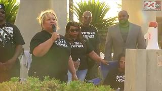 Rally at downtown Bakersfield in protest of alleged misconduct of BPD officers during arrest of Tatyana Hargrove - Video